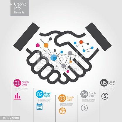 istock Graphic Info Elements - Handshake 491775888