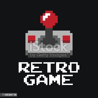 Graphic joystick arcade game in vector format