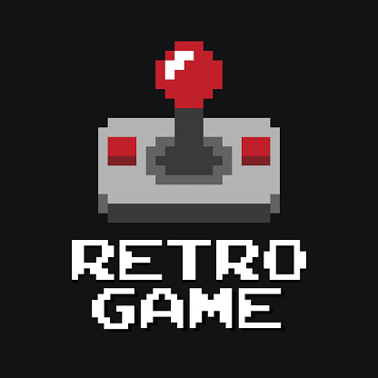 Graphic joystick arcade game vector