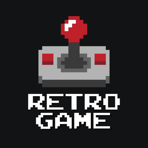 Graphic joystick arcade game vector Graphic joystick arcade game in vector format joystick stock illustrations