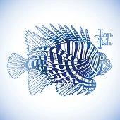 Graphic lion fish