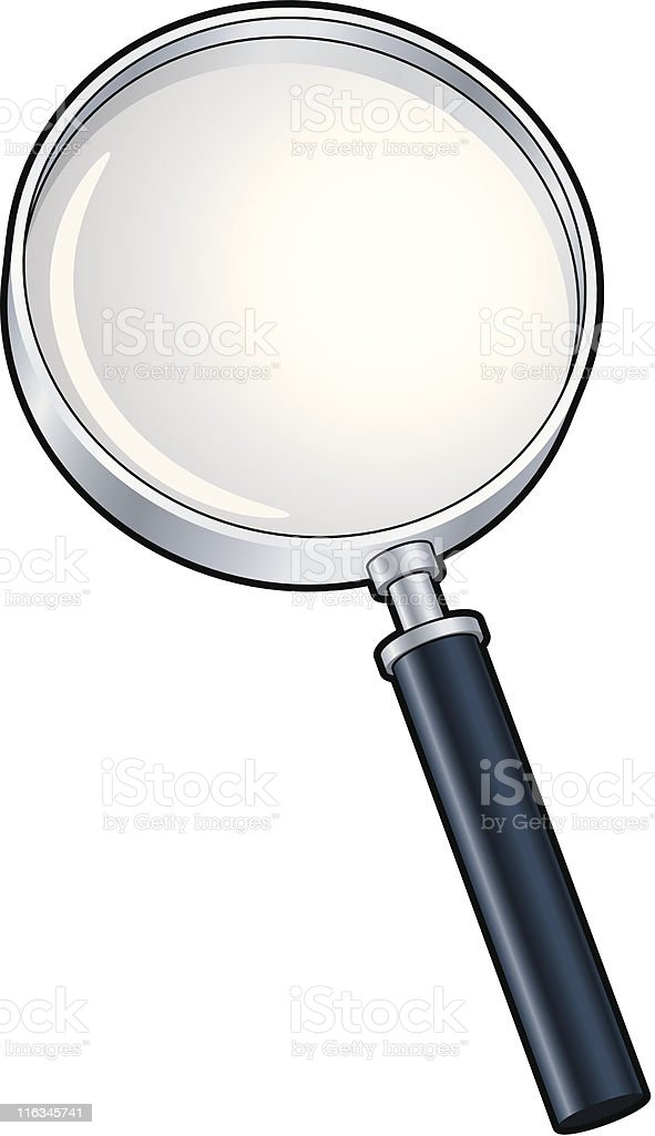 A graphic magnifying glass on a white background  royalty-free a graphic magnifying glass on a white background stock vector art & more images of challenge