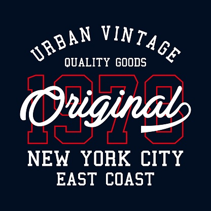graphic New York City for t-shirt print and other uses - Vector.