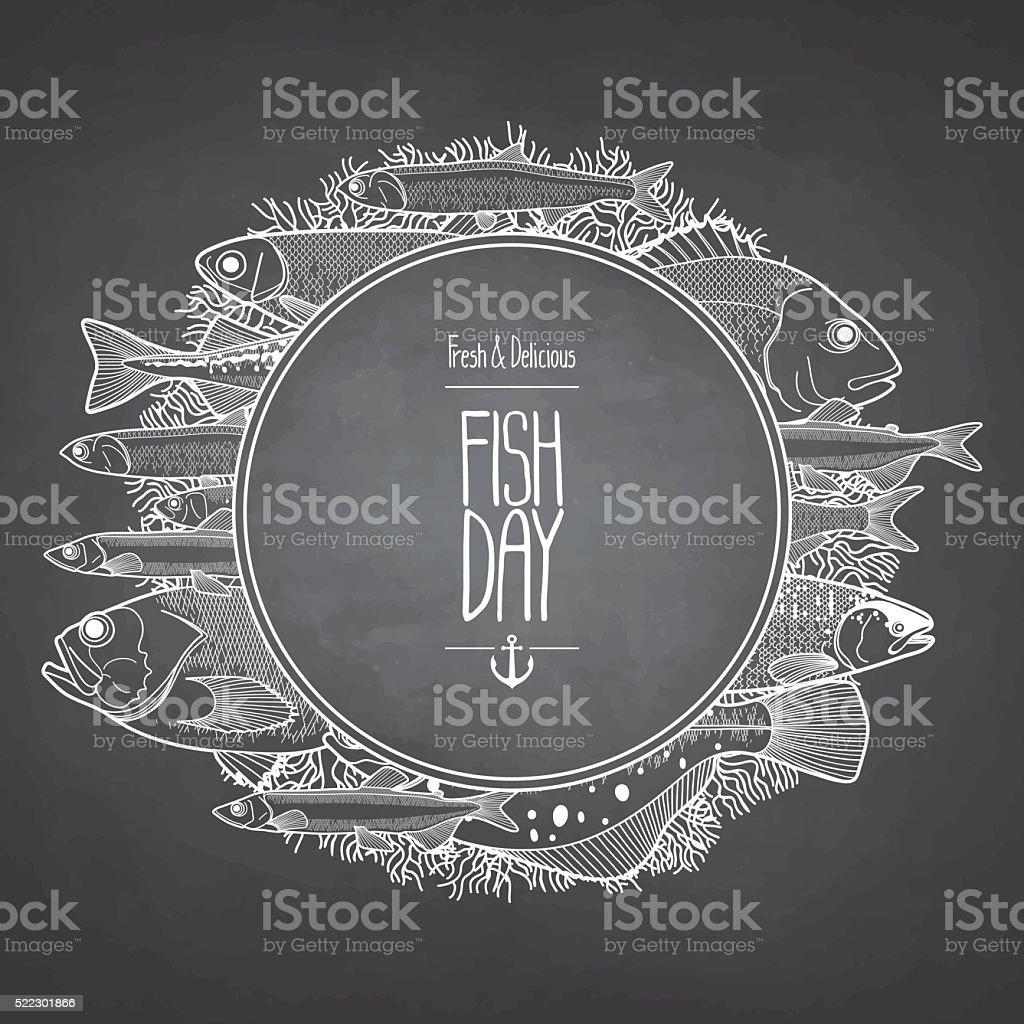 Pescado diseño gráfico al mar - ilustración de arte vectorial