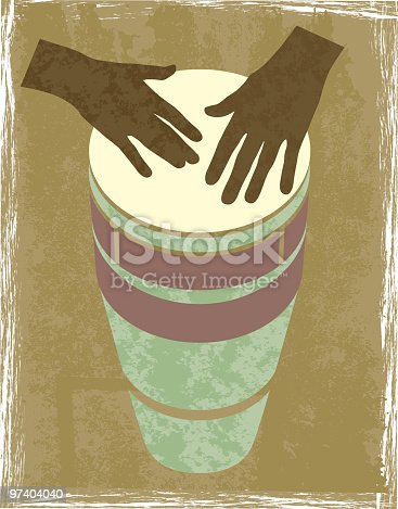 istock A graphic of 2 brown hands banging a drum 97404040