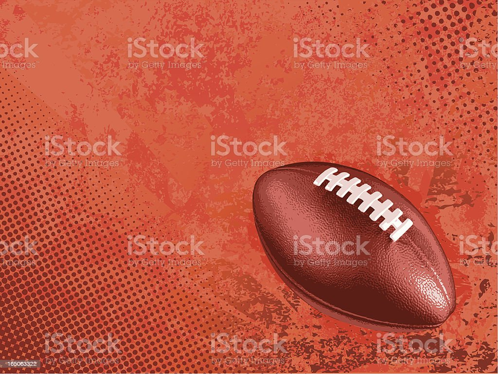 Graphic of a football on a red background vector art illustration