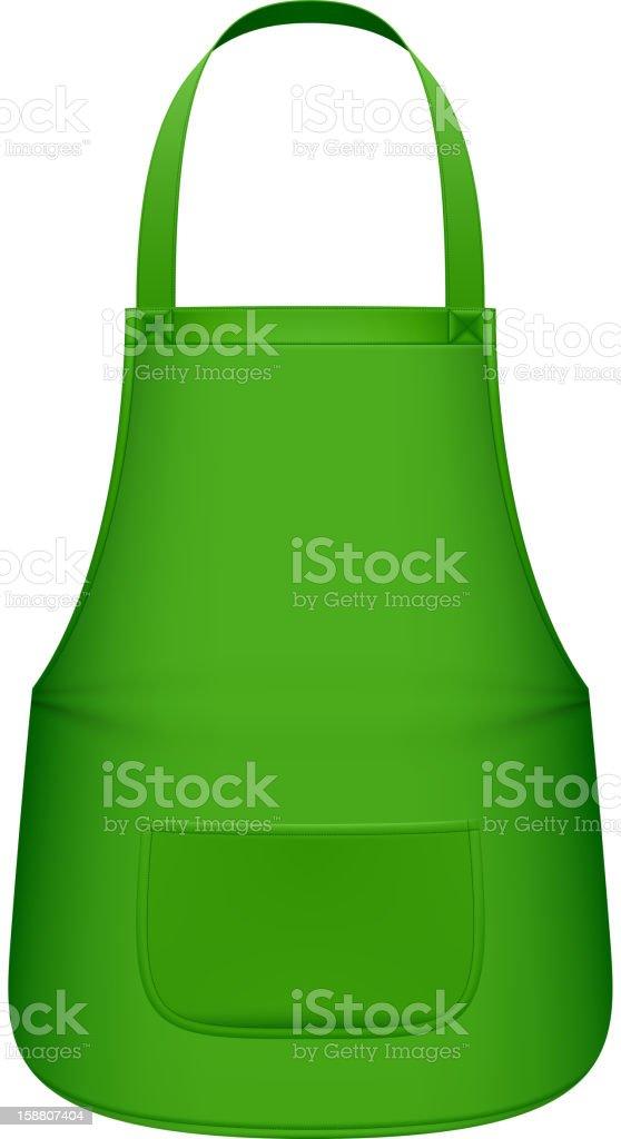 Avental de cozinha verdes - ilustração de arte em vetor