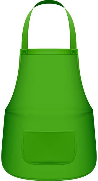 grüne küche schürze - kittelschürze stock-grafiken, -clipart, -cartoons und -symbole