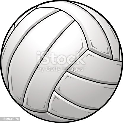 istock A graphic of a white volleyball 165503276