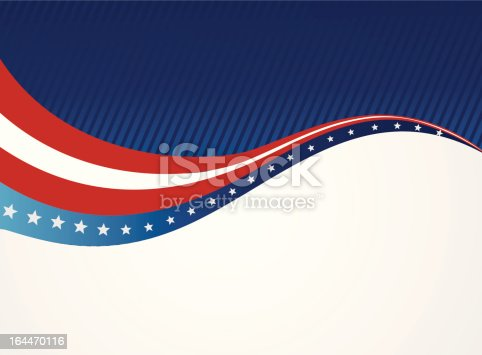 istock Graphic of an abstract American patriotic background 164470116