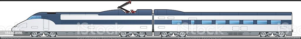 Graphic of high-speed train against white background vector art illustration