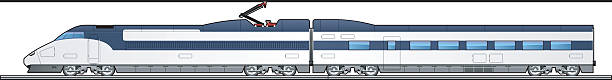 Graphic of high-speed train against white background illustration of a train. Simple gradients only - no gradient mesh. high speed train stock illustrations