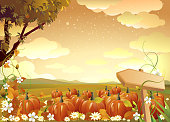 Self illustrated beautiful autumn background.Each element in a separate layers.Very easy to edit vector file.