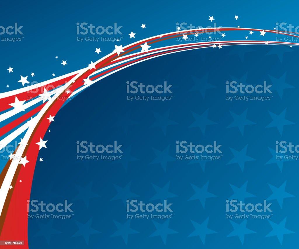 Graphic of red, white and blue stripes with white stars royalty-free graphic of red white and blue stripes with white stars stock vector art & more images of abstract
