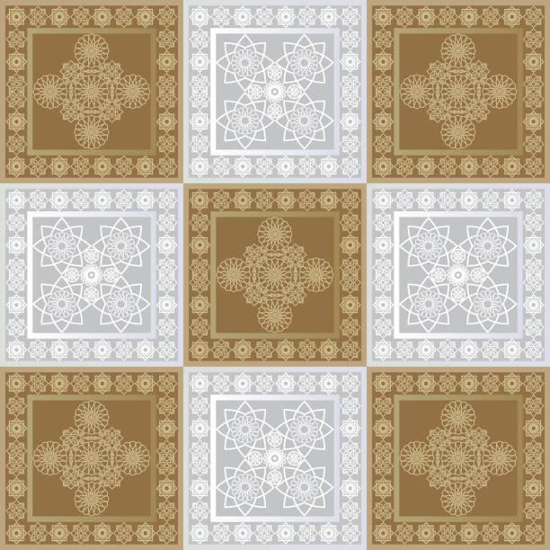 stockillustraties, clipart, cartoons en iconen met grafisch patroon met een bas-reliëf van ramadan 32 - stickers met relief