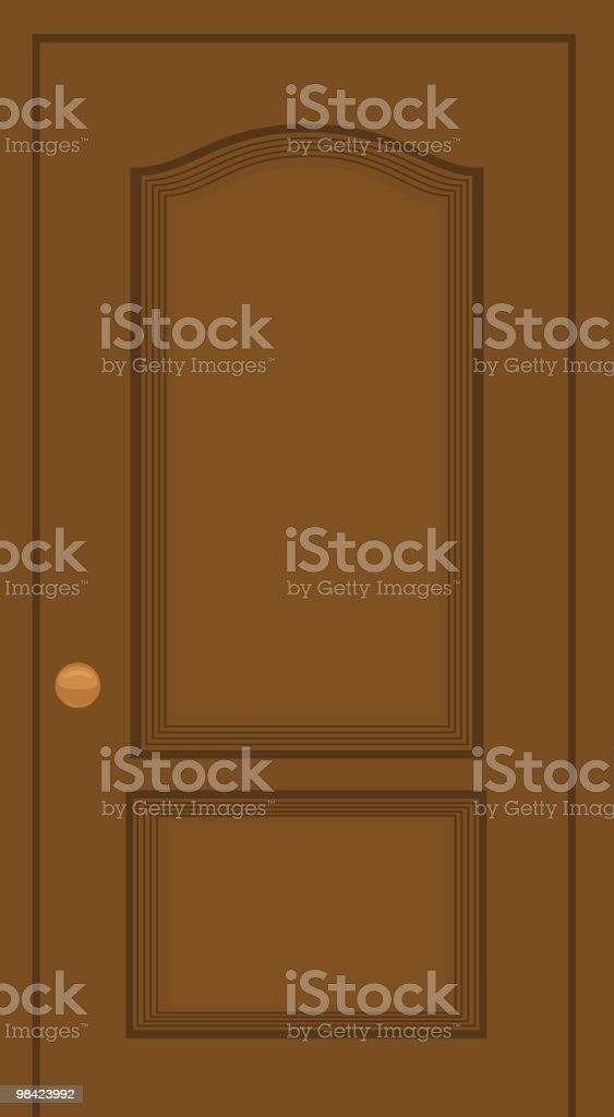 Graphic photo of a brown wooden door with gold door knob royalty-free graphic photo of a brown wooden door with gold door knob stock vector art & more images of cartoon