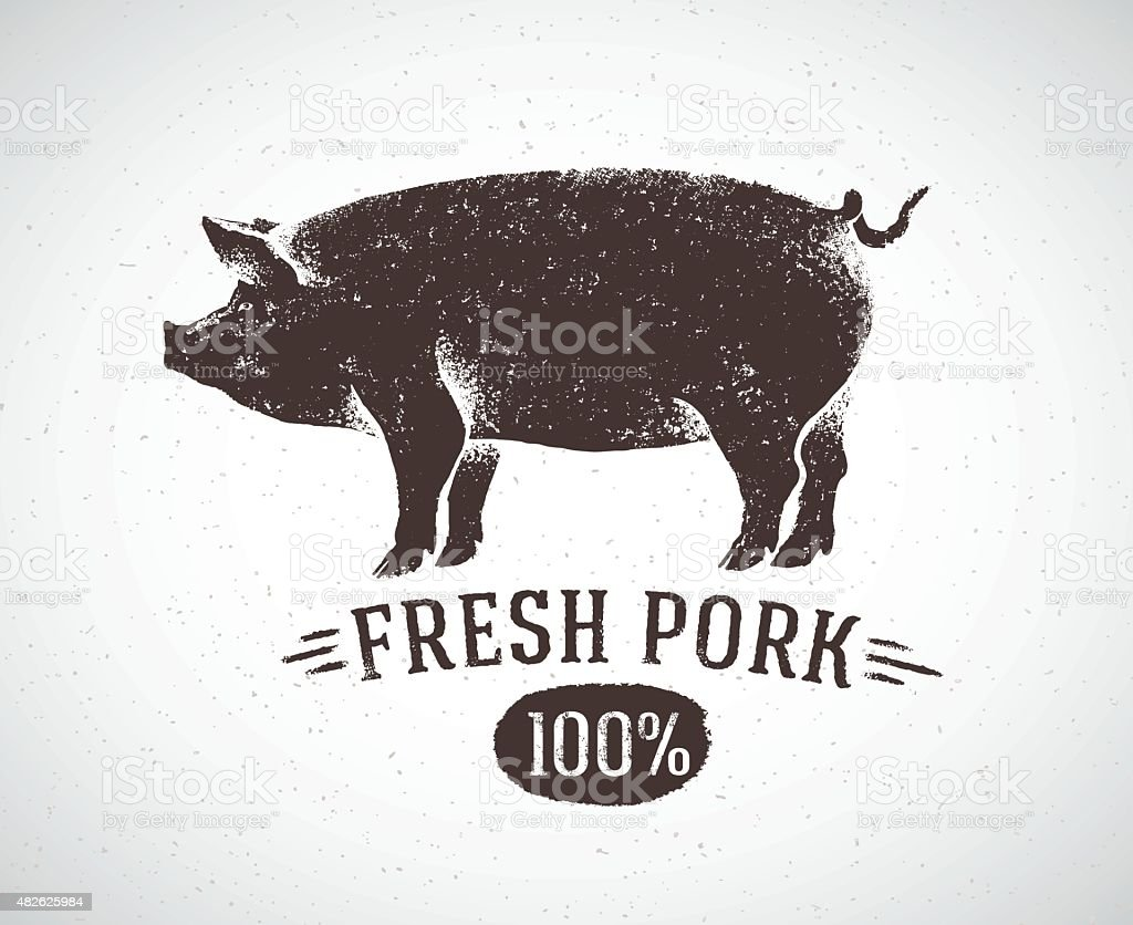 Graphic pig. vector art illustration