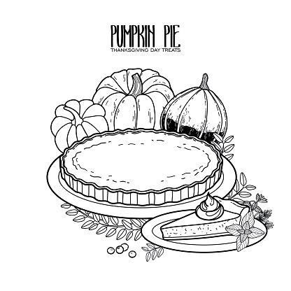 Graphic pumpkin pie