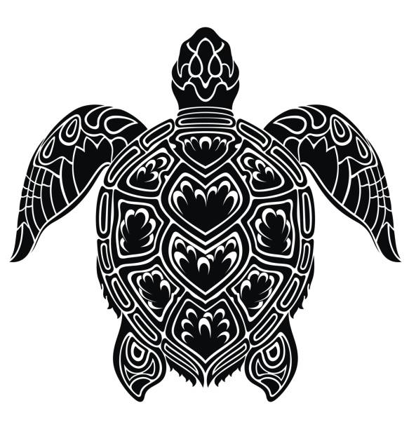 Royalty Free Tribal Turtle Tattoos Designs Backgrounds Clip Art