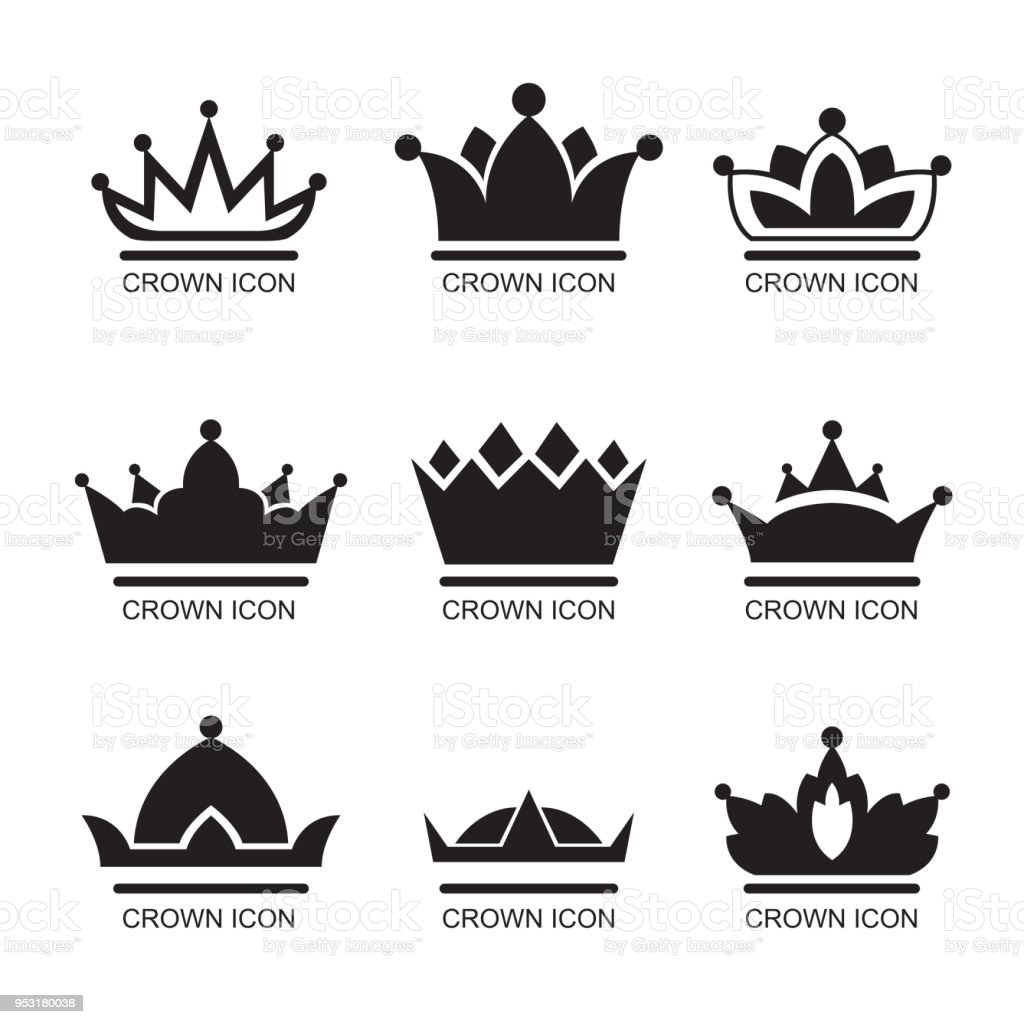 graphic simple form of the royal crown on an isolated background