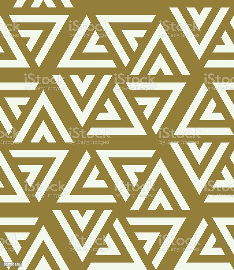 Graphic simple ornamental tile, vector repeated pattern vector art illustration