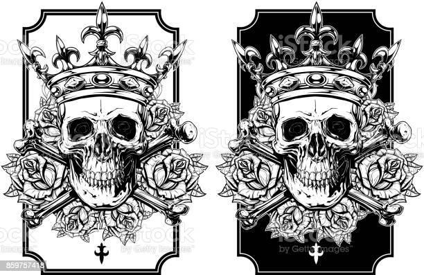 Graphic skull with crossed bones and crown set vector id859757418?b=1&k=6&m=859757418&s=612x612&h=i7or0msu0mrkxezdy akwbckd42l bhfexvgsxwuoei=