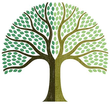 Graphic small tree illustration
