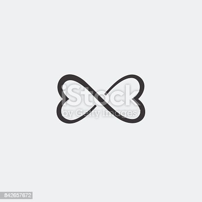 Graphic Symbol Of Love Is The Heart In The Sign Of Infinity Vector