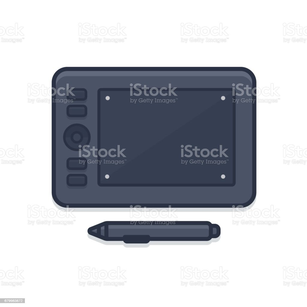 Graphic tablet icon vector art illustration