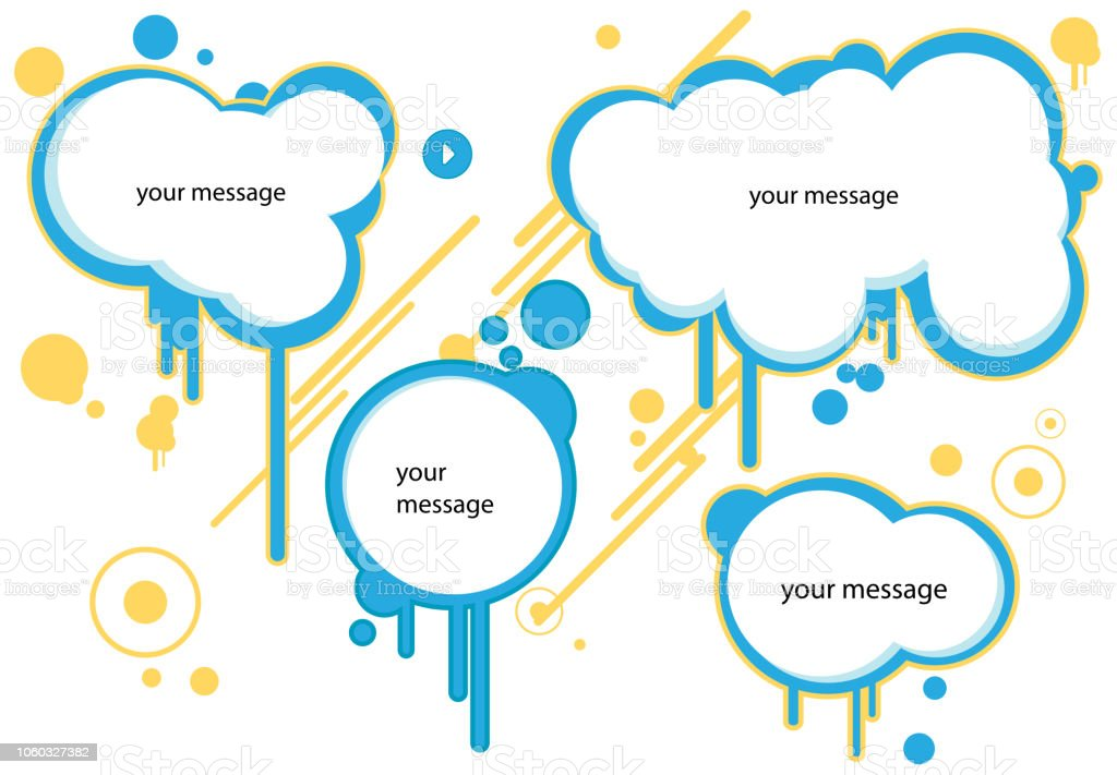 graphic template blank for text message stock vector art more