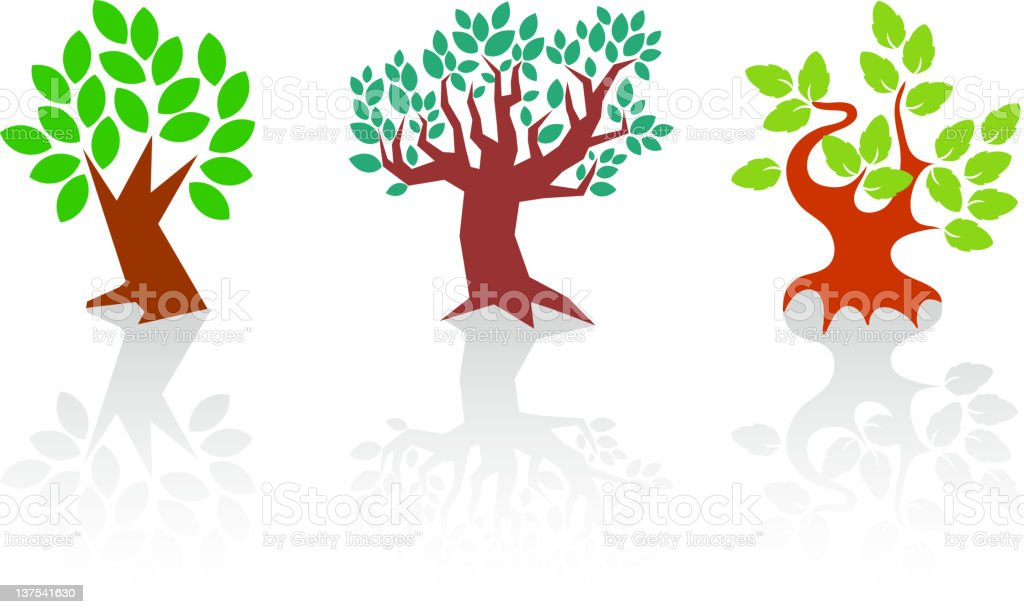 Graphic Trees royalty-free stock vector art