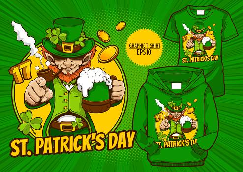 graphic t-shirt  Saint Patrick's Day 52