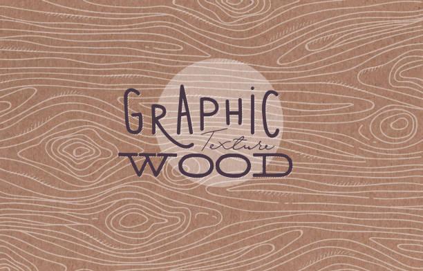 graficzna tekstura drewna brązowa - drewno tworzywo stock illustrations
