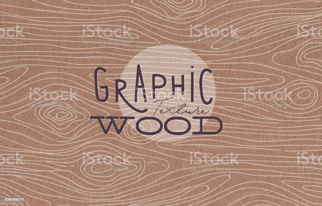 Graphic wood texture brown vector art illustration