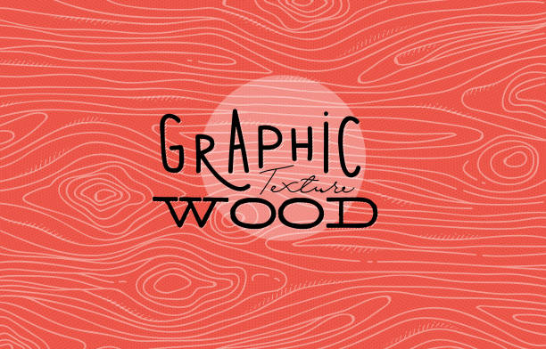 graphic wood texture coral - wood texture stock illustrations, clip art, cartoons, & icons