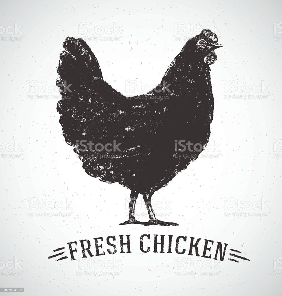 Graphical chicken. - Royaltyfri 25-centsmynt vektorgrafik