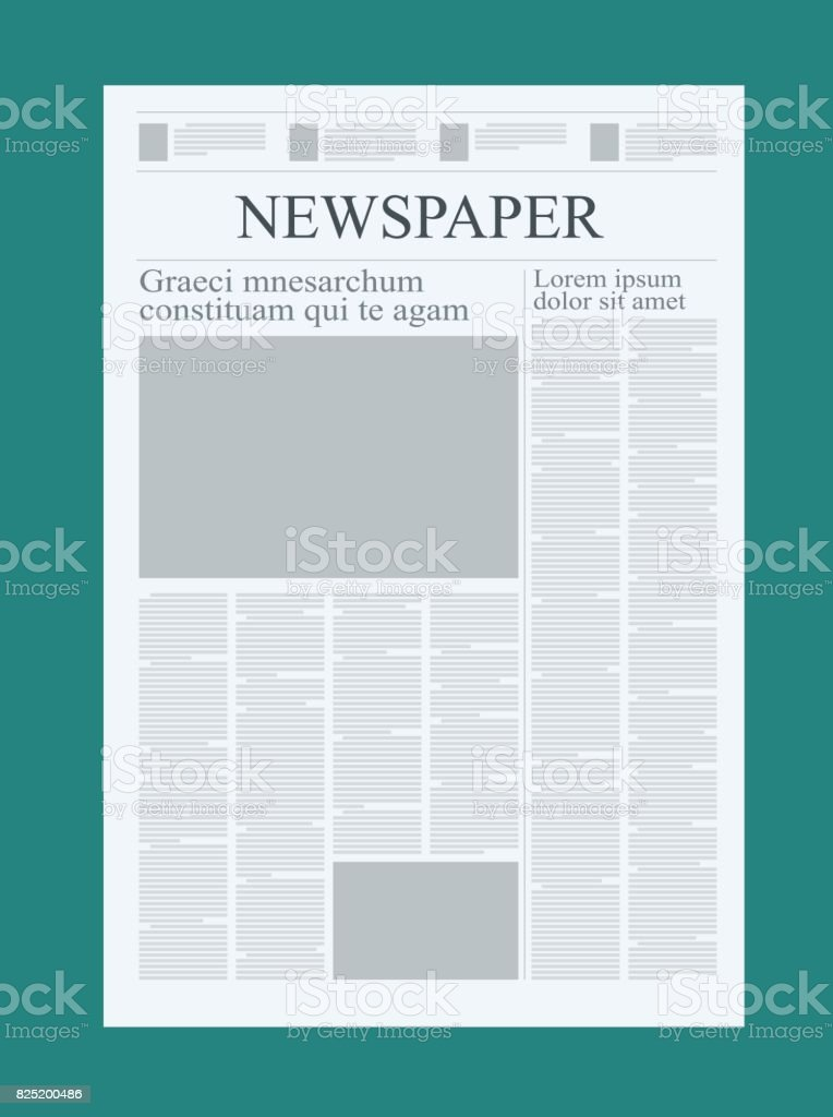 Graphical Design Newspaper Template Highlighting Figures And