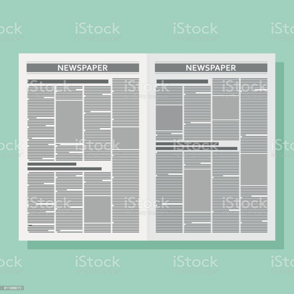 Graphical design newspaper template vector art illustration