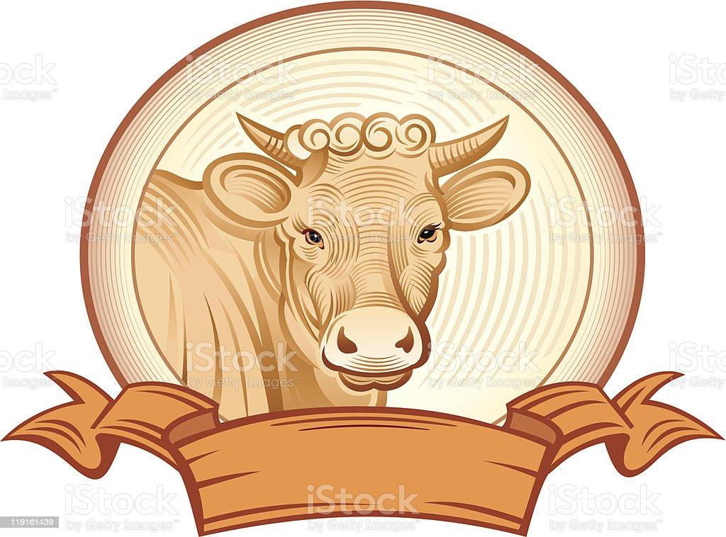 Graphical heifer royalty-free stock vector art