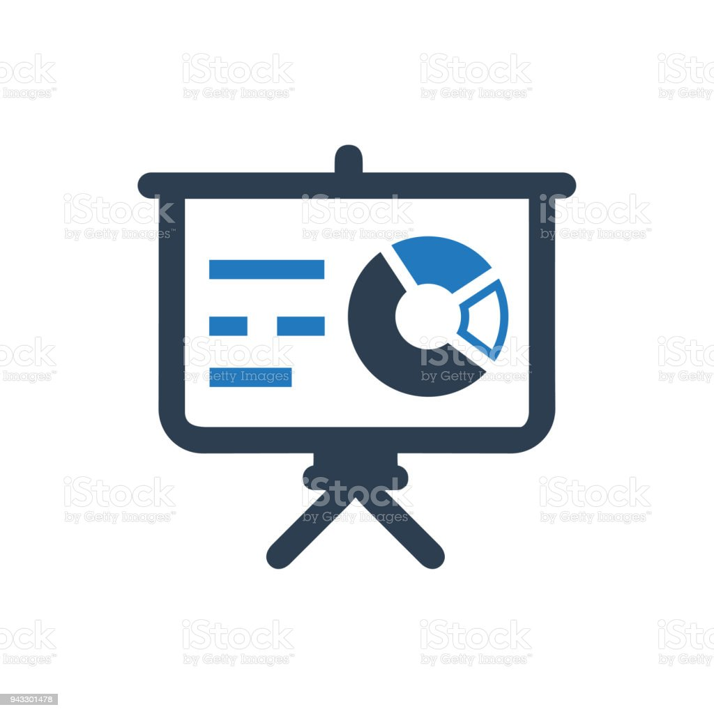 graphical presentation icon stock vector art more images of