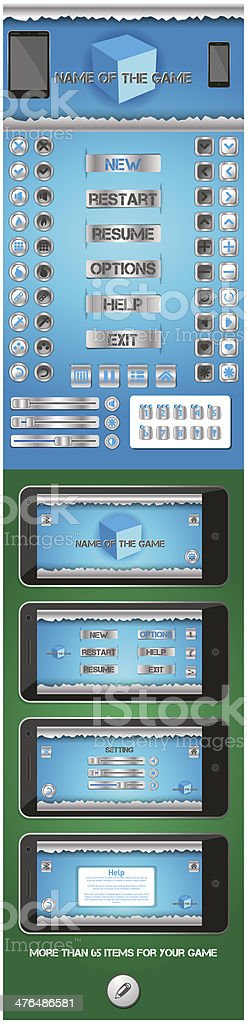 graphical user interface for games 2 royalty-free stock vector art