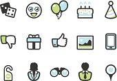 Graphico icons - Social Entertainment