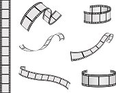 Graphics of film reel in various lengths and shapes