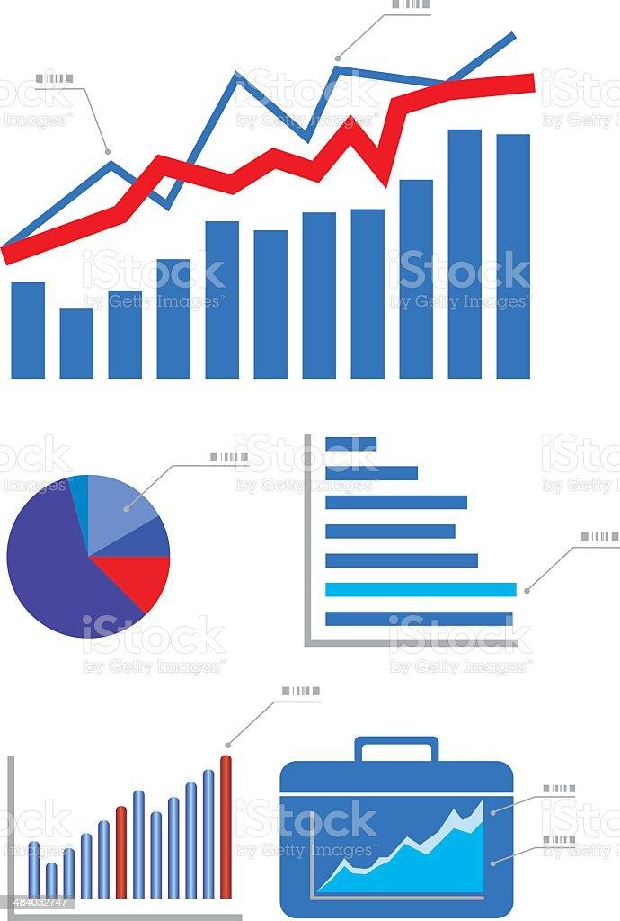 Graphs and Charts royalty-free stock vector art