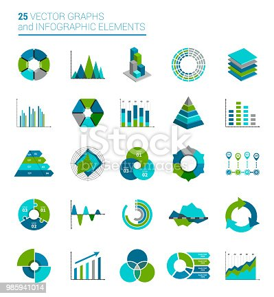 Vector illustration Graphs, Charts and Infographics elements