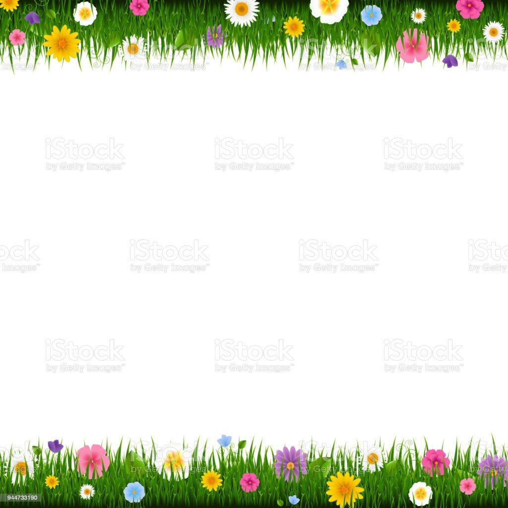 herbe et bordure de fleurs cliparts vectoriels et plus d. Black Bedroom Furniture Sets. Home Design Ideas