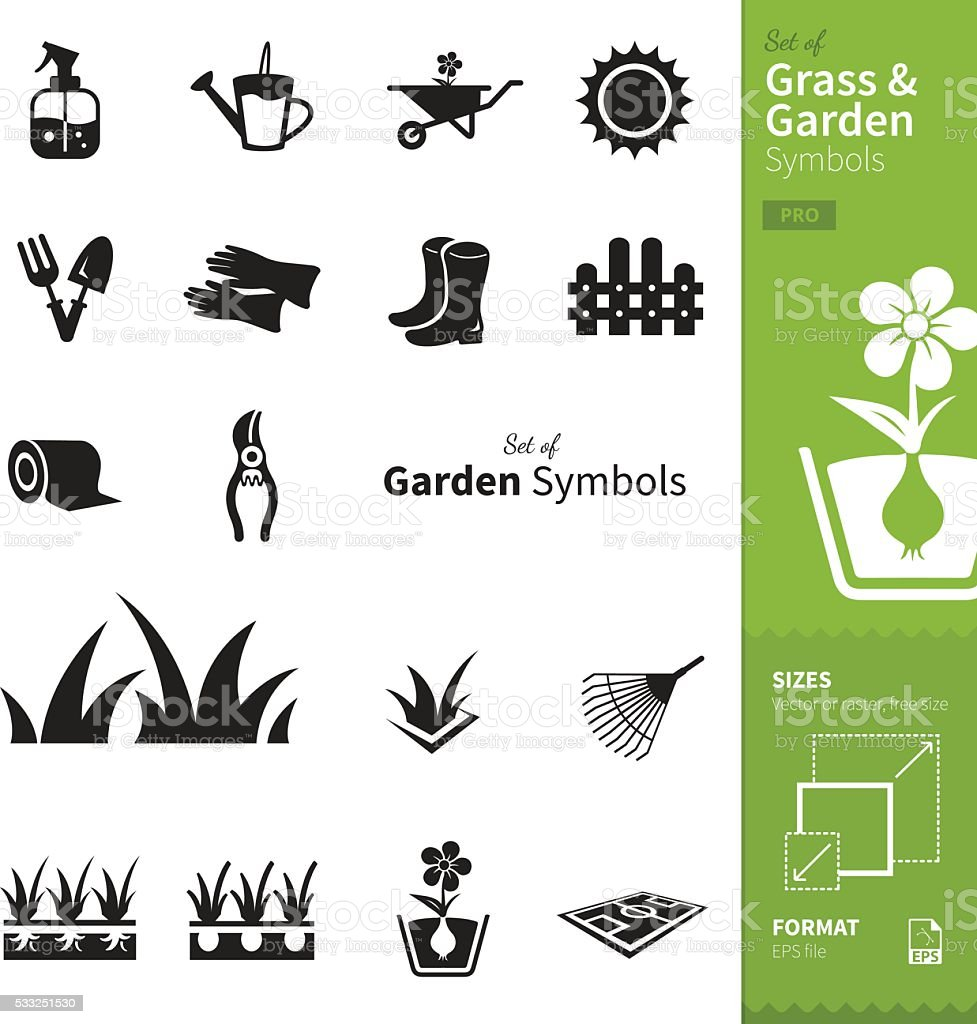 Grass and Garden vector art illustration
