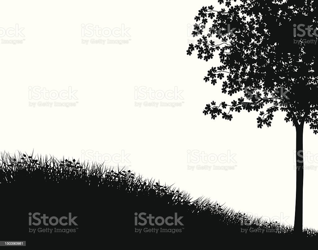 Grass and tree royalty-free stock vector art