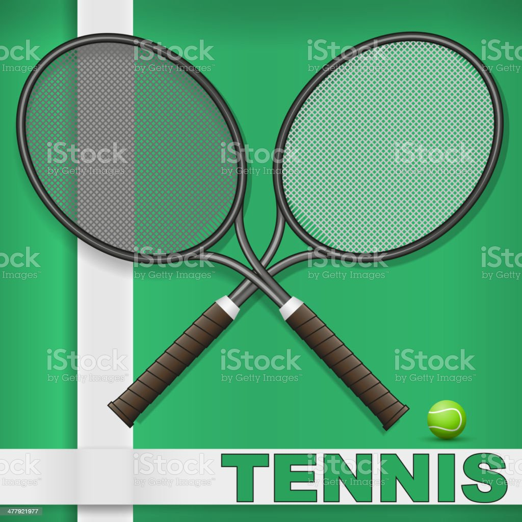 Grass court and rackets royalty-free grass court and rackets stock vector art & more images of activity