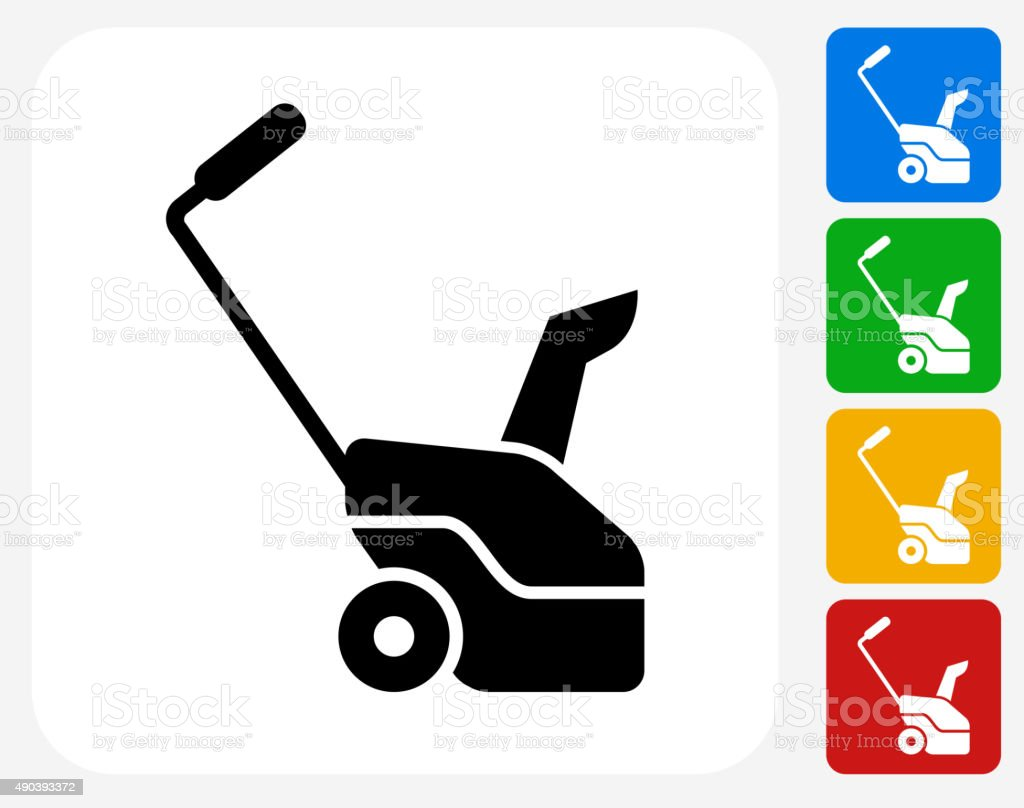 Grass cutter Icon Flat Graphic Design vector art illustration